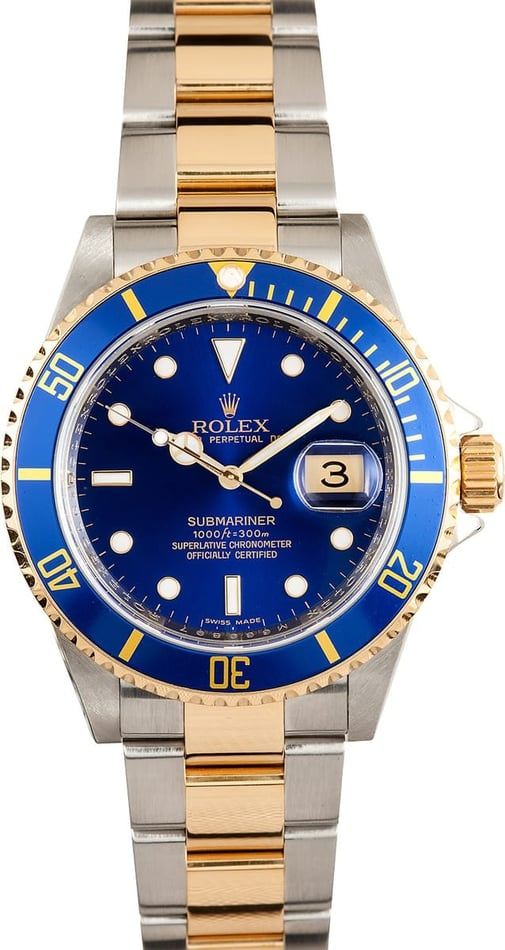 Rolex Submariner Two Tone 16613 x