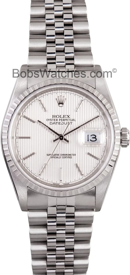 Rolex Datejust 16220 Silver Dial, B&P, 2001