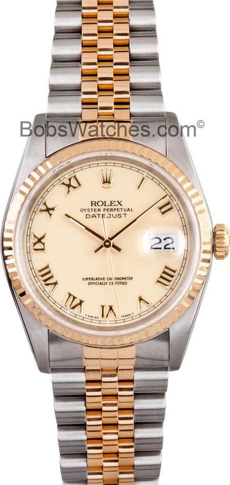 Rolex Datejust 16233 Ivory Dial
