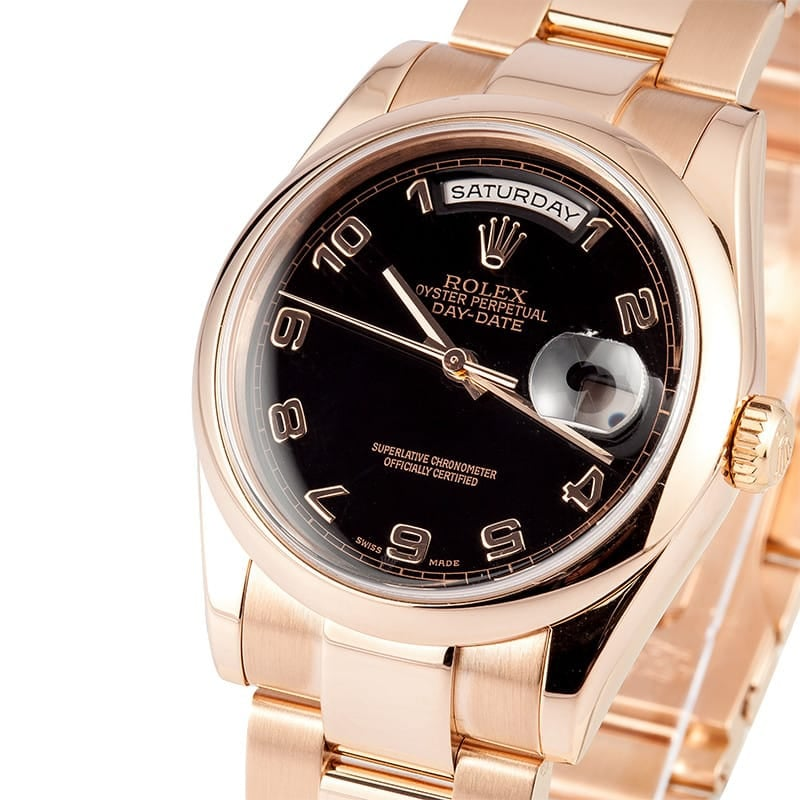 Rolex Day Date Rose Gold Used