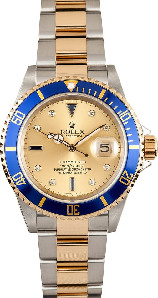Two Tone Rolex Submariner 16613 2