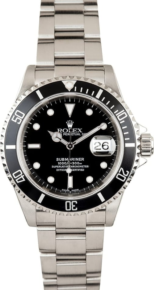 Used Rolex Submariner Black 16610