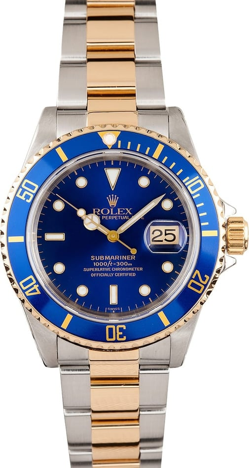 Mens Blue Rolex Submariner 16613