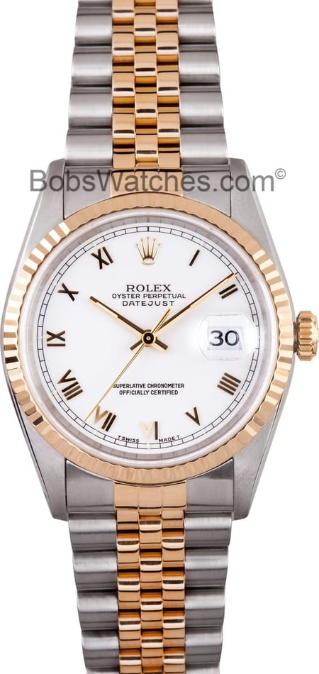 Mens Rolex Datejust Two Tone 16233