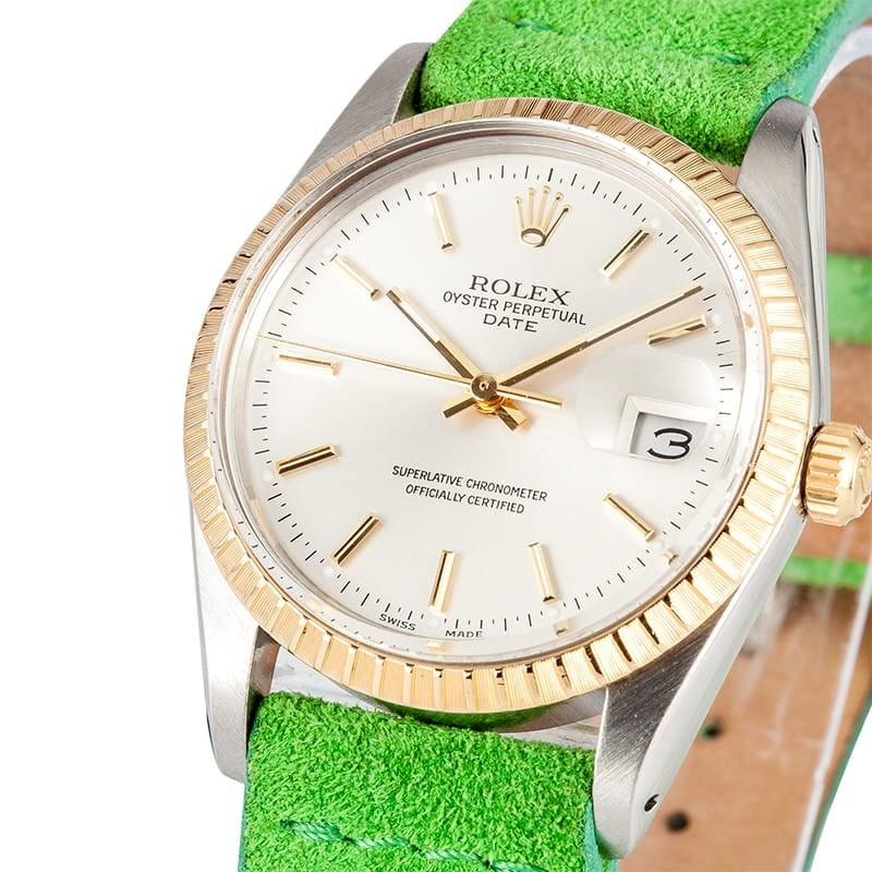 Rolex Men's Two tone Date 15053
