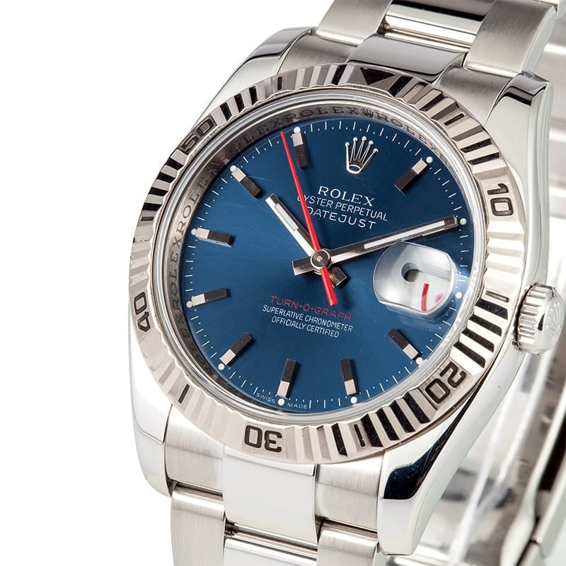 Rolex DateJust 116264 Engraved Serial, B&P