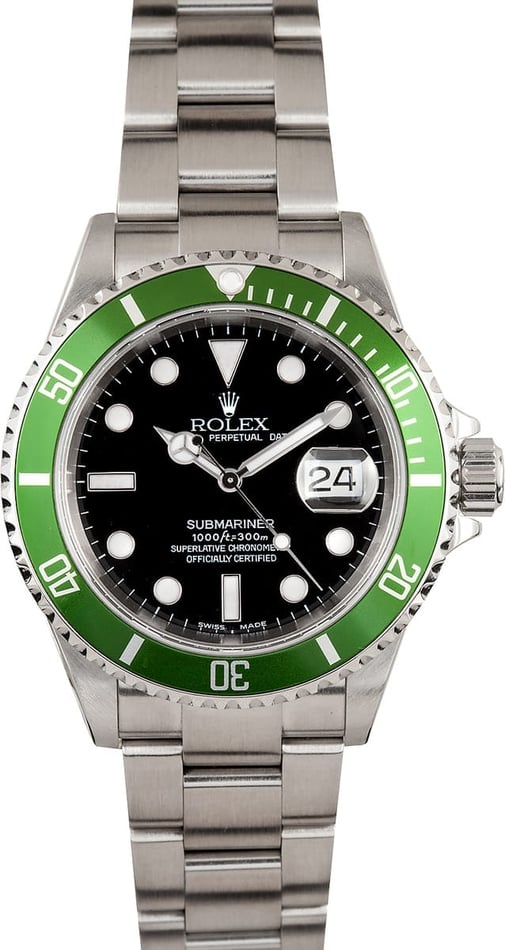 Submariner Date 16610V Anniversary Green, 2006
