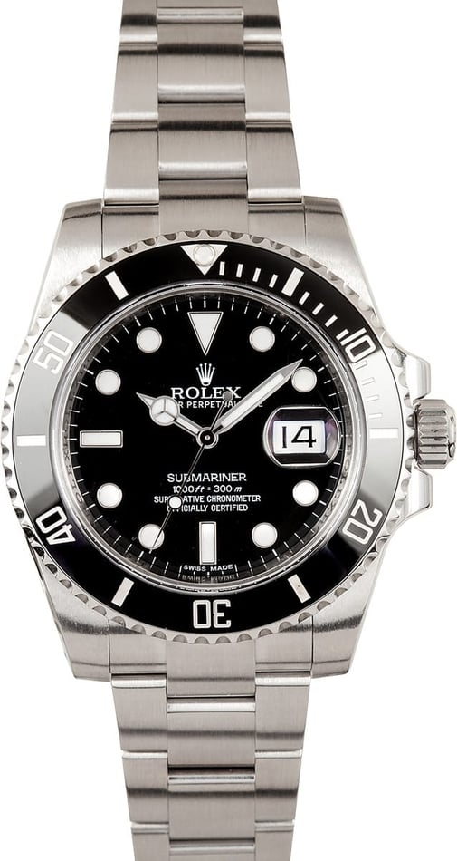 Rolex Men's Black Ceramic Submariner 116610