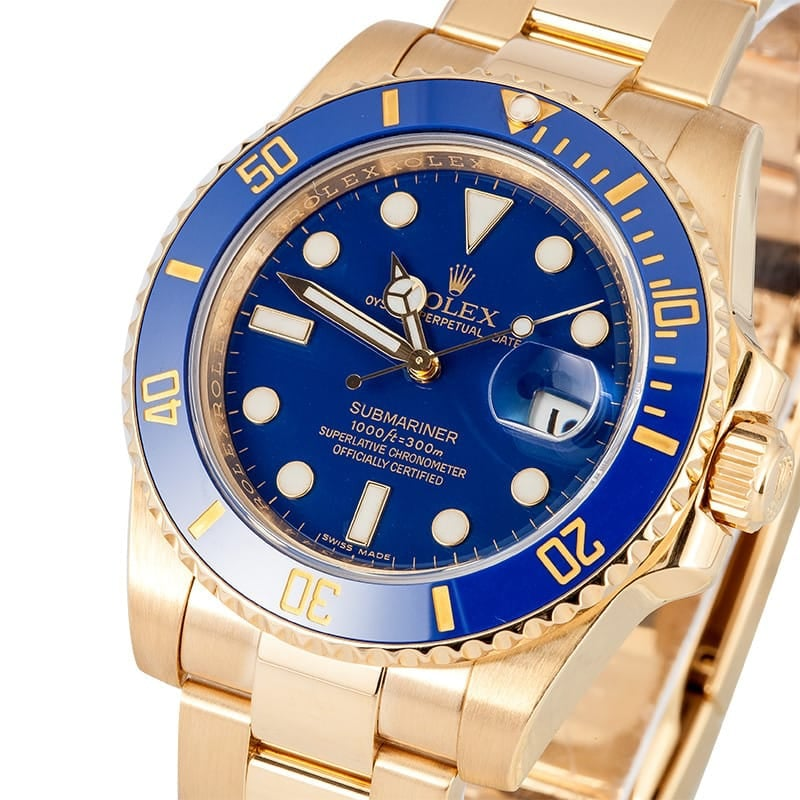 18K Rolex Submariner Mens 116618