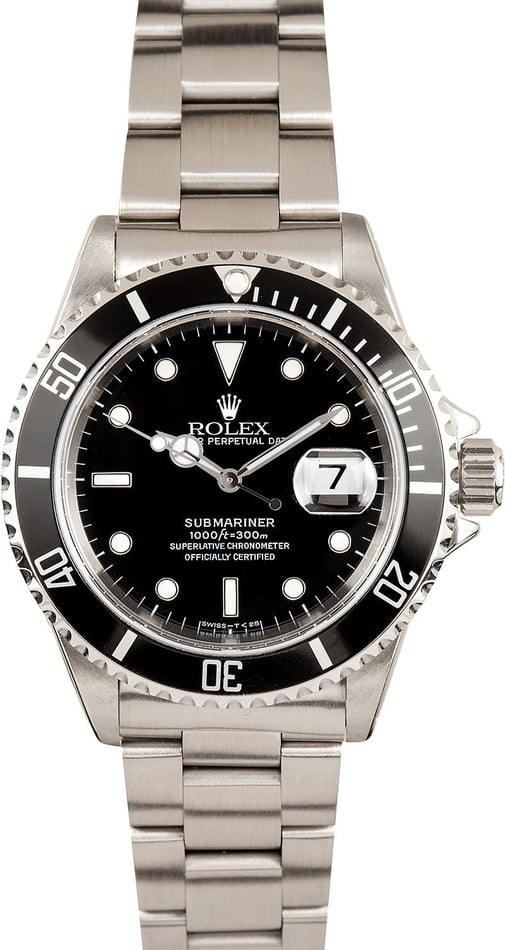 Submariner Rolex Black 16610