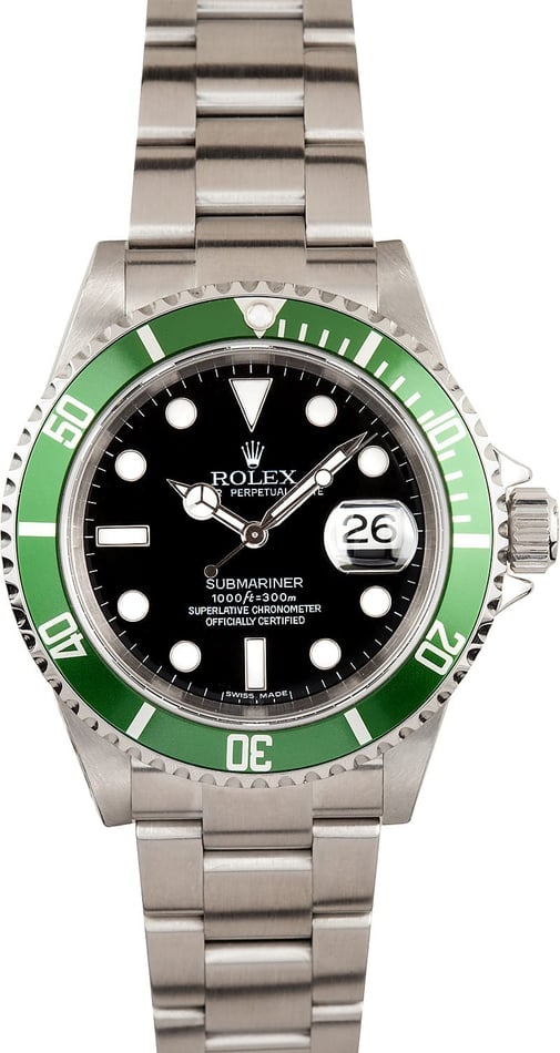 Rolex Anniversary Submariner 16610V Mint!