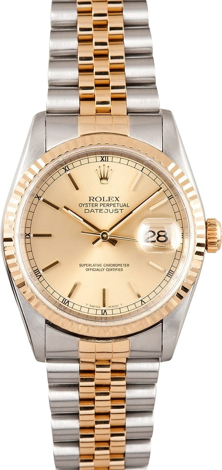 Rolex Datejust 16233 Champagne Index