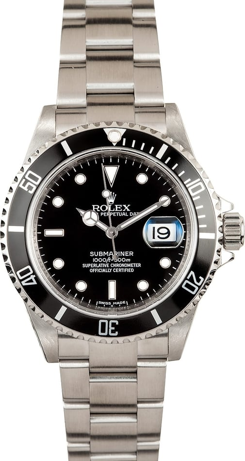 Rolex Submariner with Serial Engraved 16610