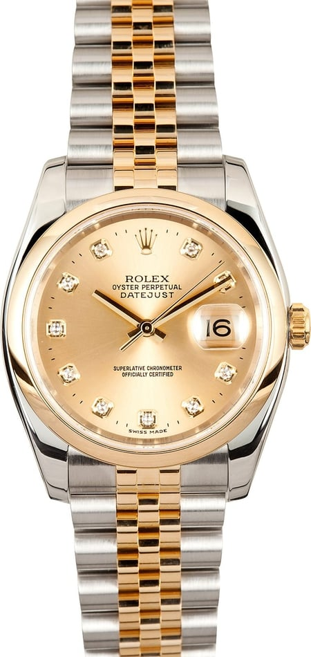 Mens Rolex Datejust Watch Diamond 116203