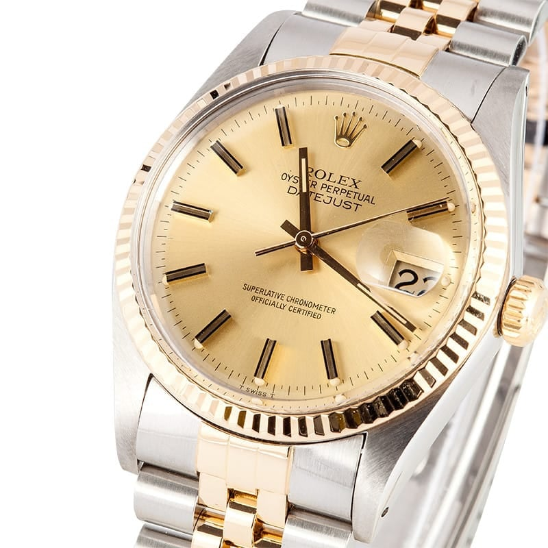 Two Tone Rolex Datejust 16013