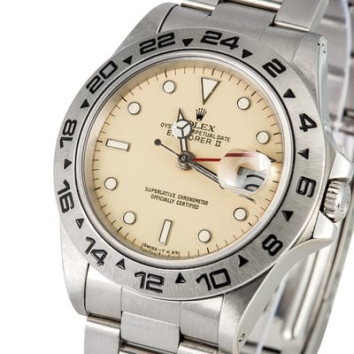 Rolex Explorer II Cream