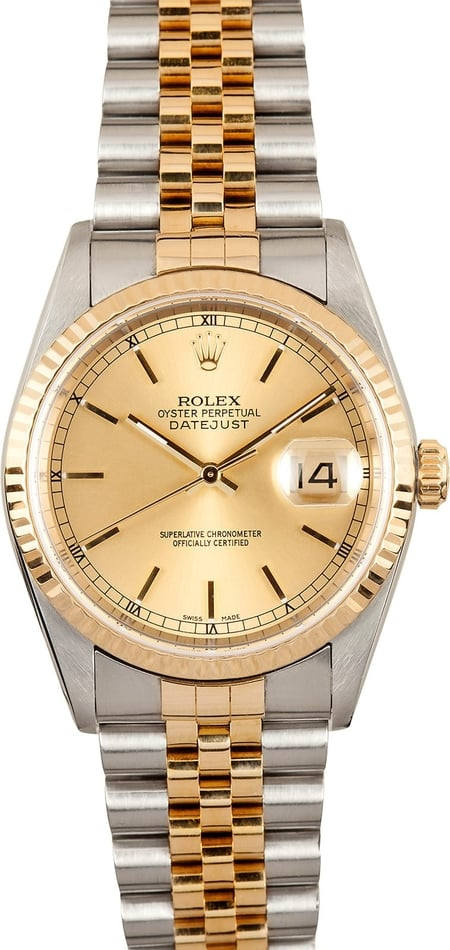 Datejust Rolex 16233 Champagne Dial