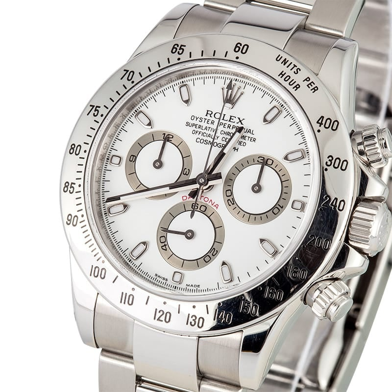 White Rolex Daytona
