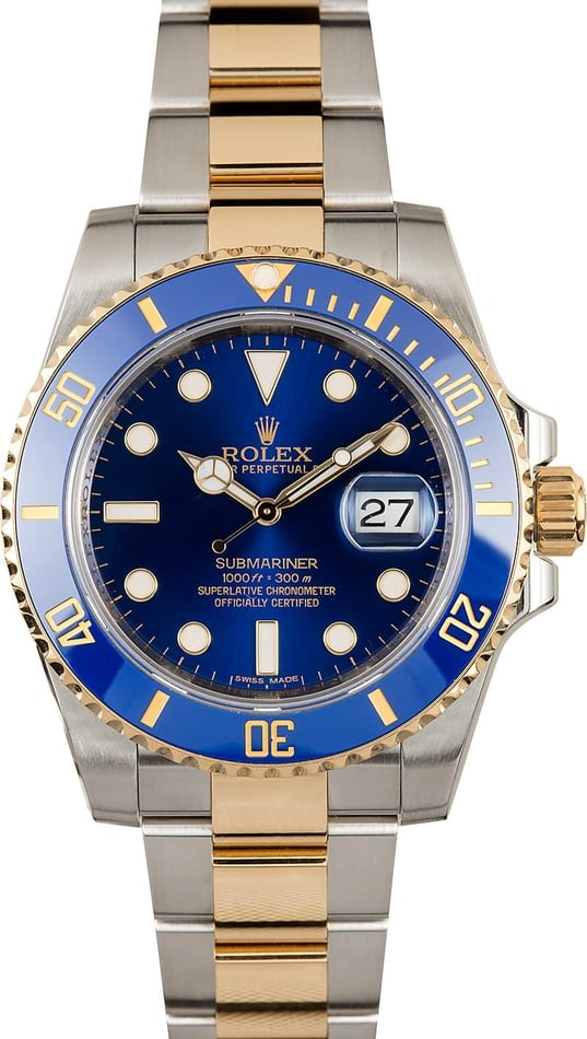 Men's Rolex Submariner 116613LB Sunburst Blue