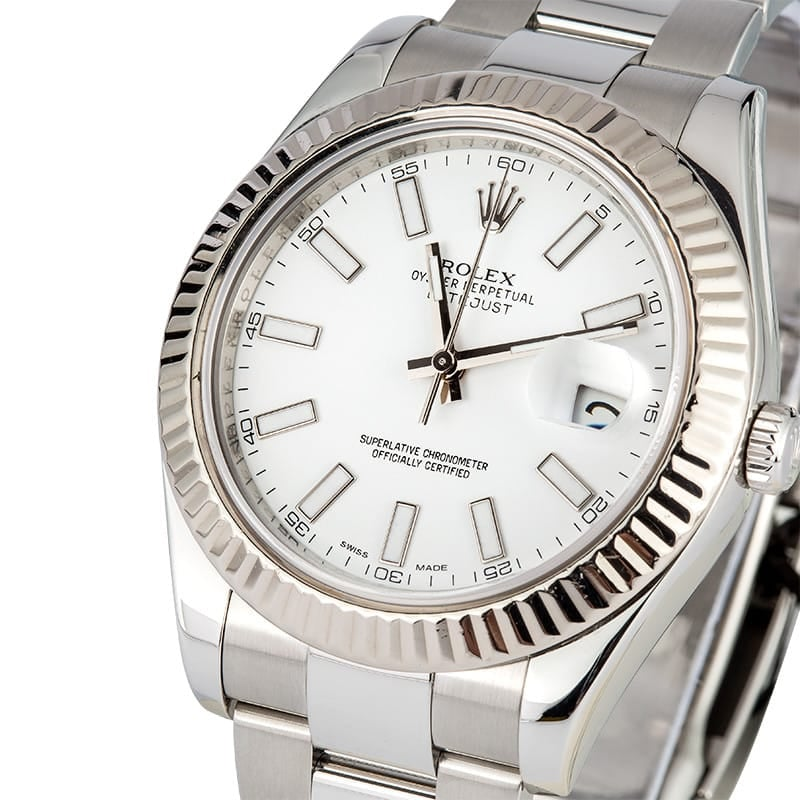 Rolex Datejust II 116334 41MM White Dial