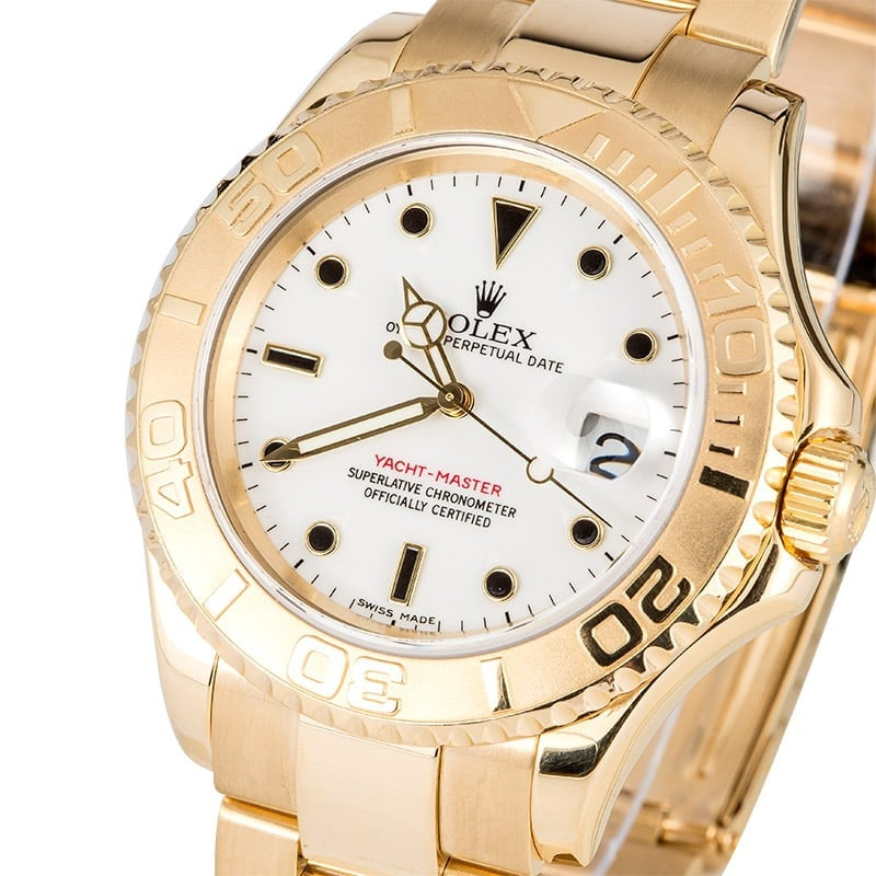 Rolex Gold Yacht-Master 16628 100% Authentic