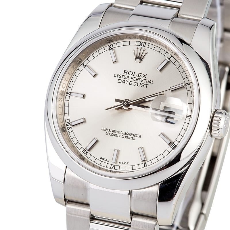 Rolex Datejust 116200 Silver Index