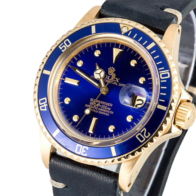 Vintage Rolex Submariner 1680 Yellow Gold