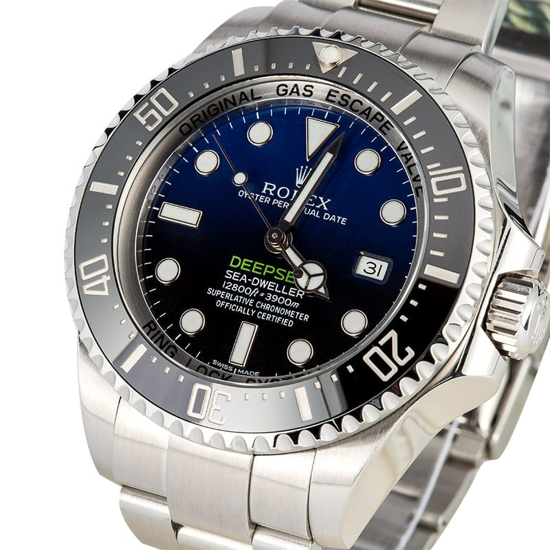 Sea-Dweller Deepsea Blue 116660 Certified Pre-Owned