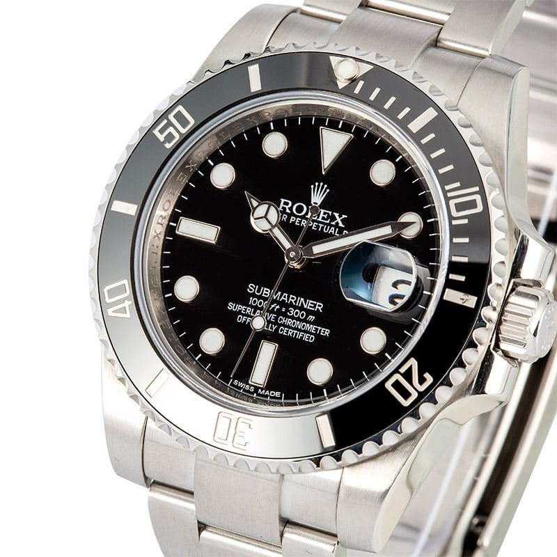 Rolex Submariner Ceramic 116610 Certified Pre-Owned