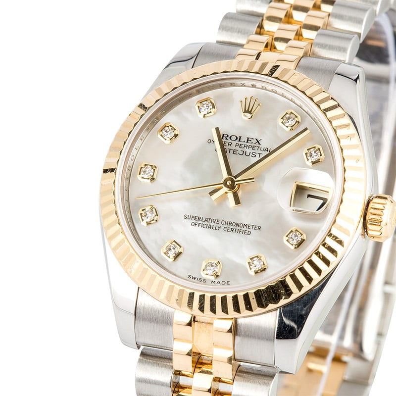 Rolex Mid-size Datejust 178273 Mother of Pearl Diamond