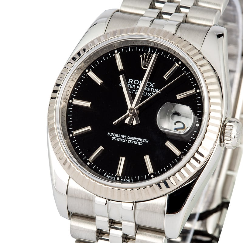 Rolex Datejust 116234 Black Certified Pre-Owned