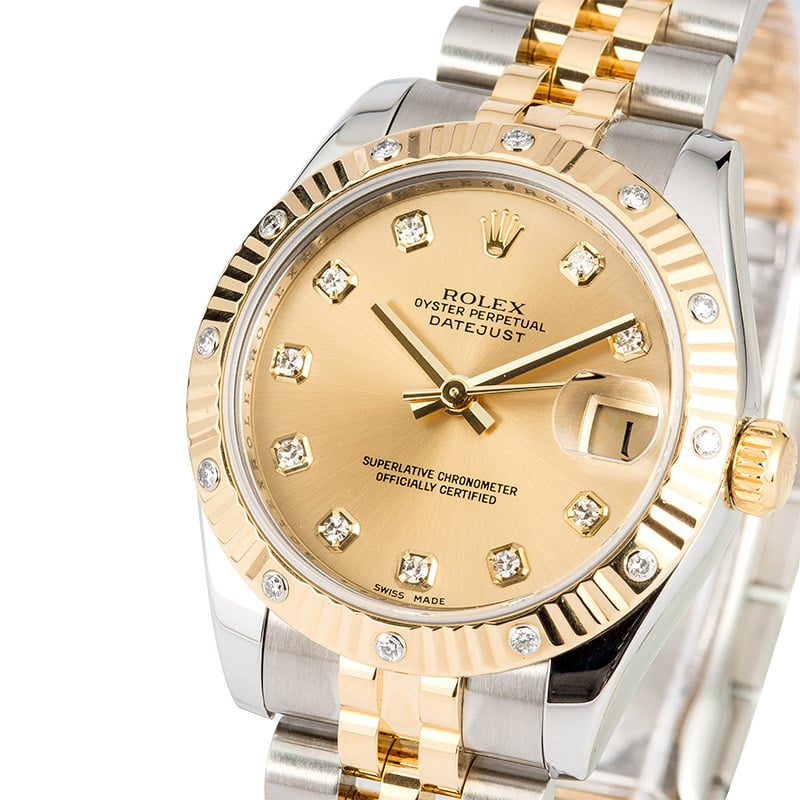 Ladies Mid-size Datejust 178313 Diamond