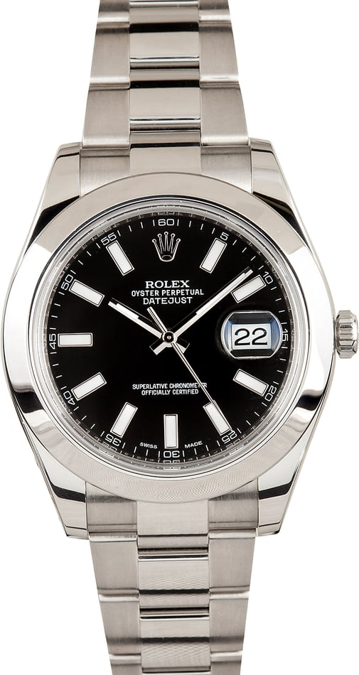 Rolex Datejust 116300 Black Index Dial