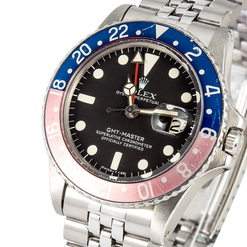 Rolex Vintage GMT-Master 1675 Faded Pepsi