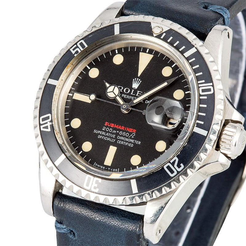 Vintage Red Submariner 1680 Circa 1968, Mark II Dial
