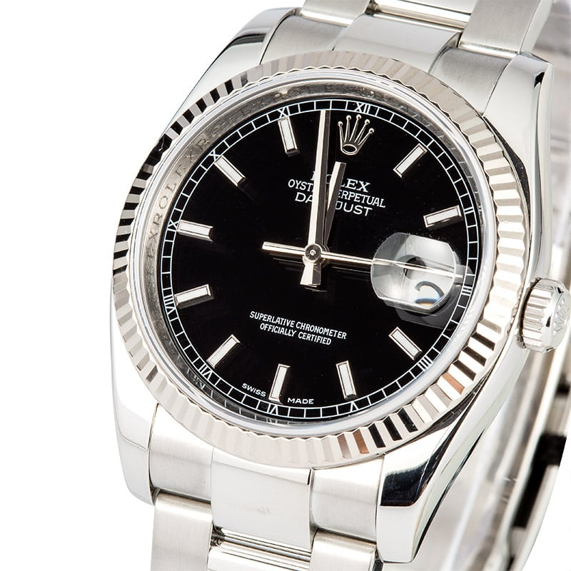 Rolex Datejust 116234 Black Index Dial