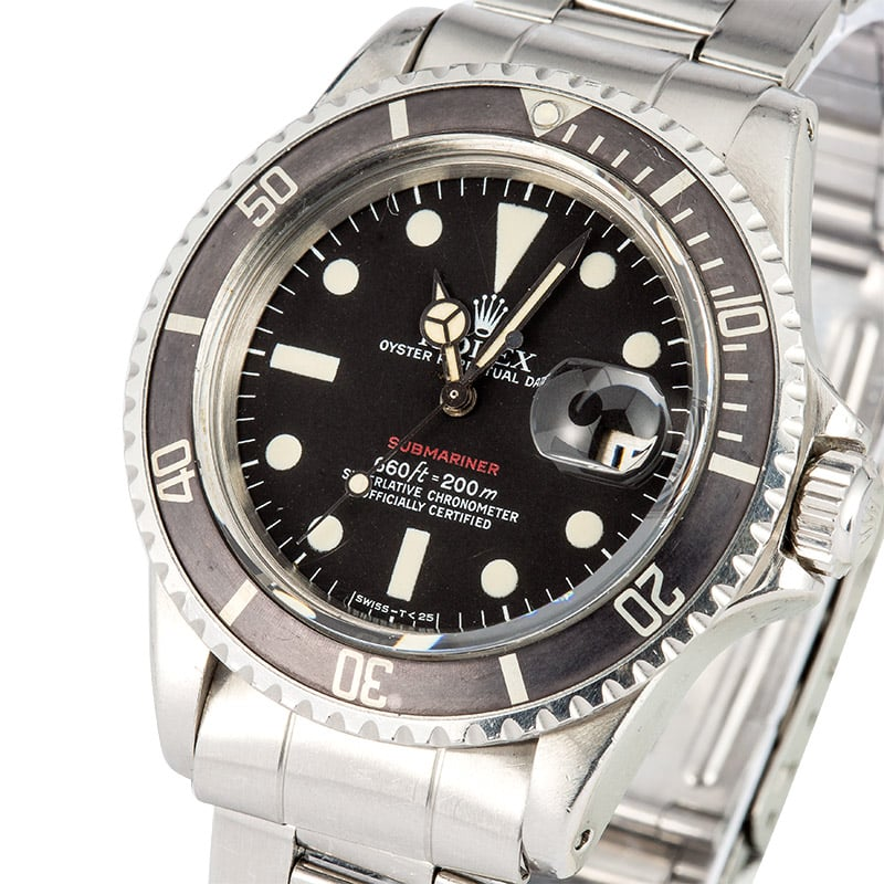 Vintage Rolex 1680 Red Submariner