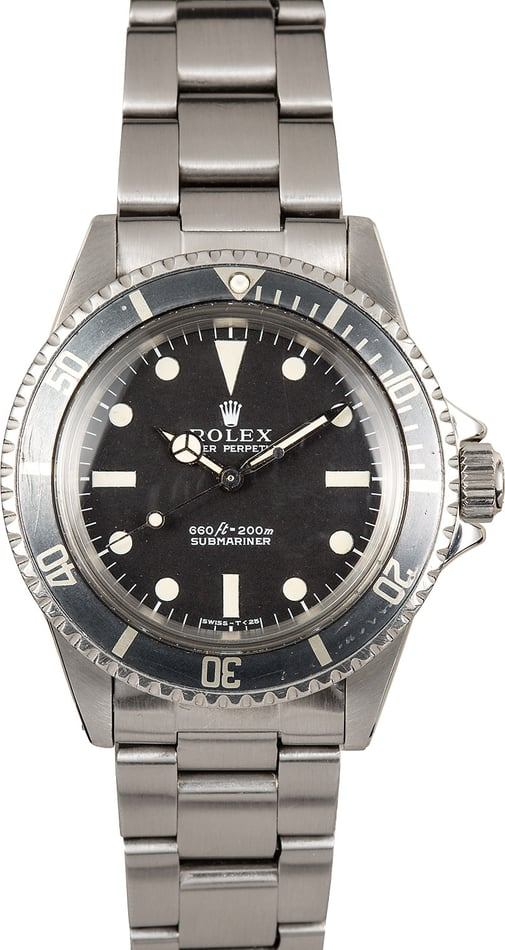 Rolex Submariner 5513 Vintage 100% Genuine