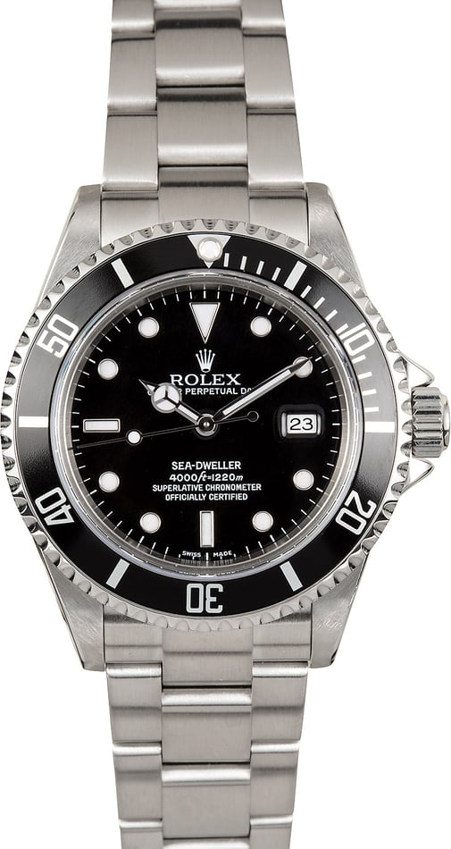 Rolex Sea-Dweller Model 16600 Stainless, Pre Owned at Bob's Watches