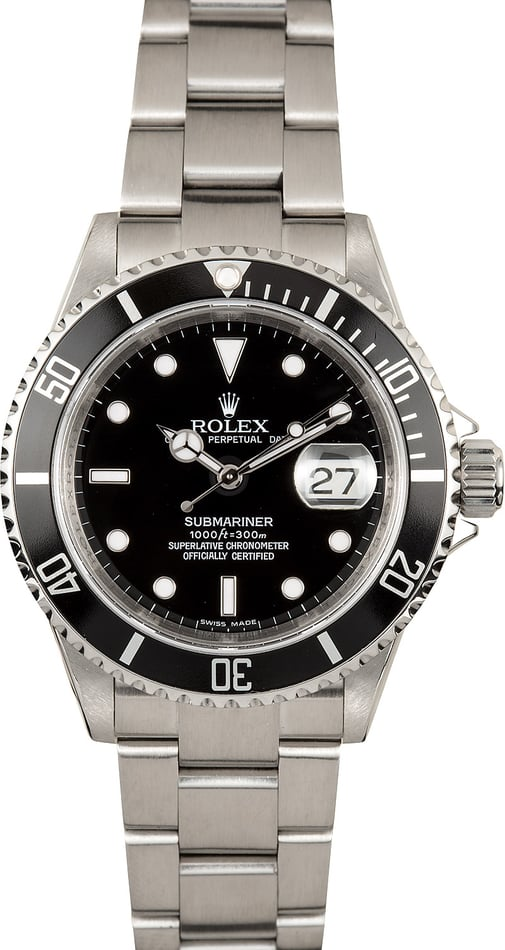 Submariner Rolex 16610T Serial Engraved