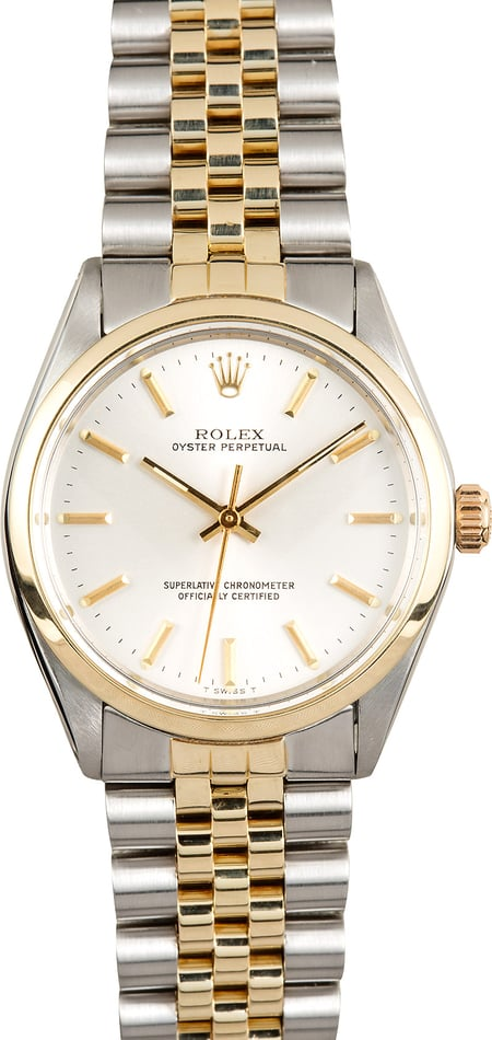 Vintage Rolex Oyster Perpetual 1002 Two Tone Jubilee
