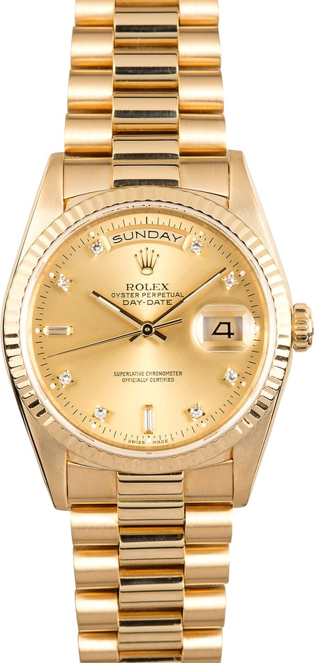Rolex President 18238 Diamond Dial Day-Date
