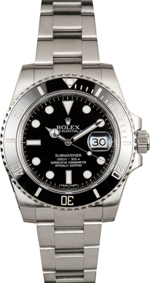 Used Rolex Submariner 116610 Black Ceramic Bezel Used