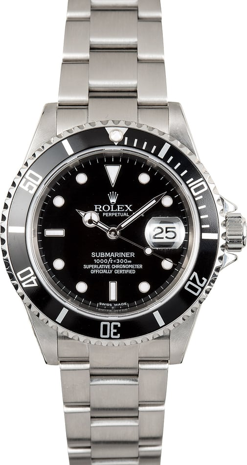 Rolex Oyster Perpetual Submariner Stainless 16610