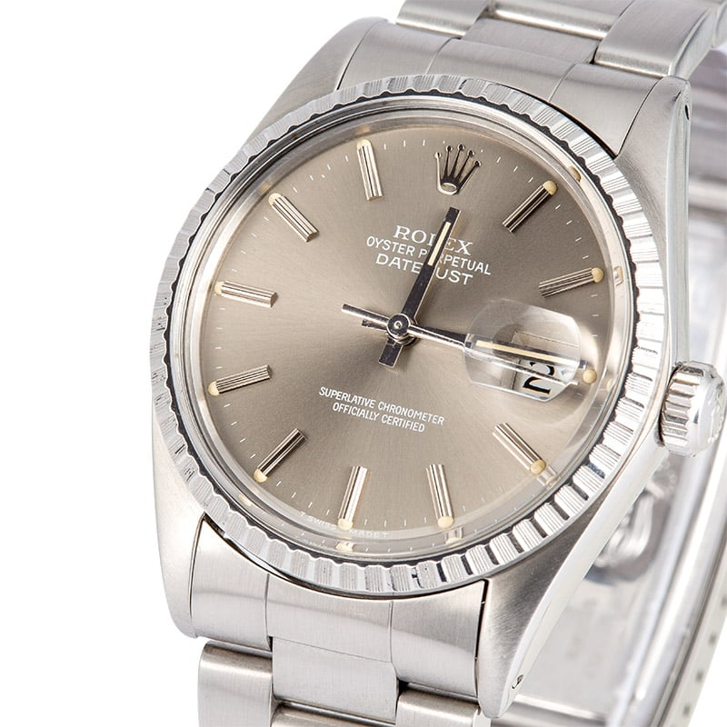 4d4c2cd5b49b5 Rolex DateJust 16030 Stainless Steel - Bob s Watches
