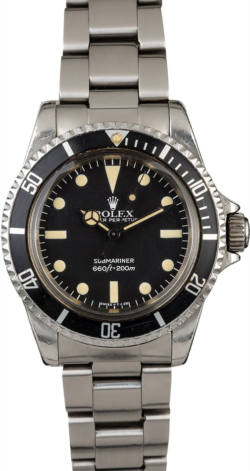 Certified Pre Owned >> Vintage 1983 Rolex Submariner 5513
