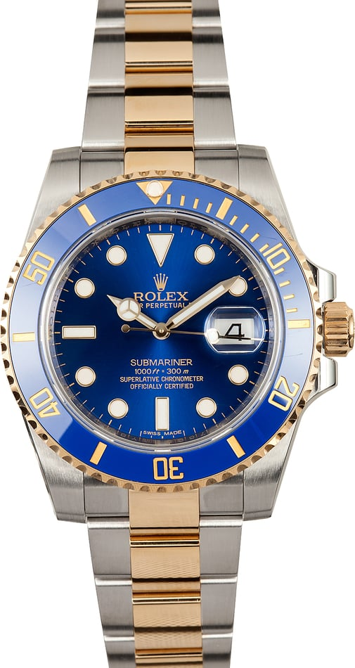 Rolex Submariner Two-Tone 116613 Sunburst Blue