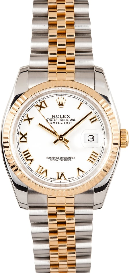 Rolex Datejust 116233 White Dial 100% Authentic