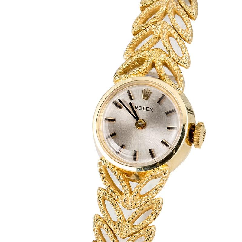 Vintage Ladies Rolex Watch With Diamonds