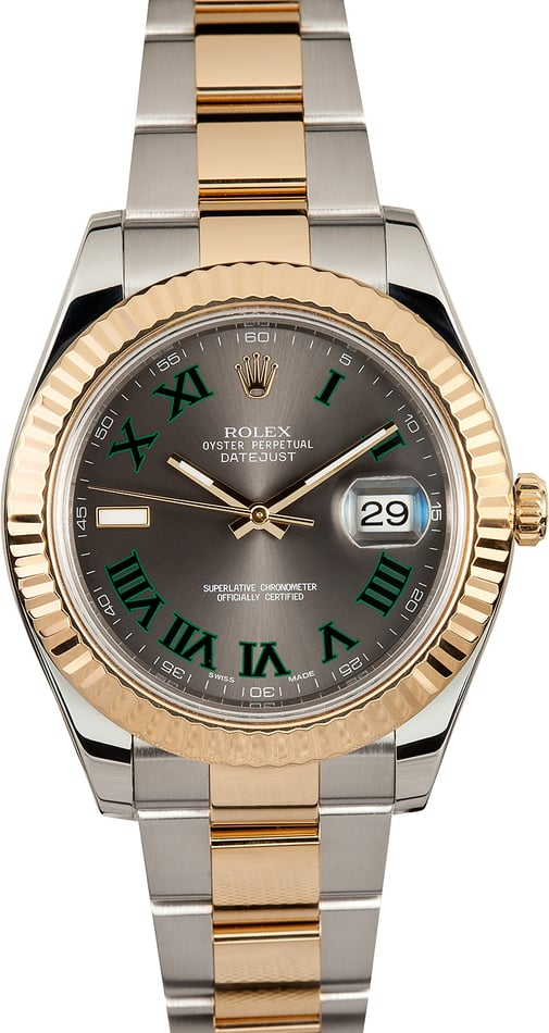 Rolex Two-Tone Datejust II 116333 Slate Dial